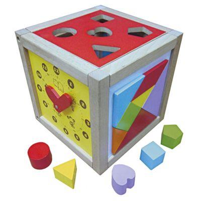 Carousel Wooden Activity Cube