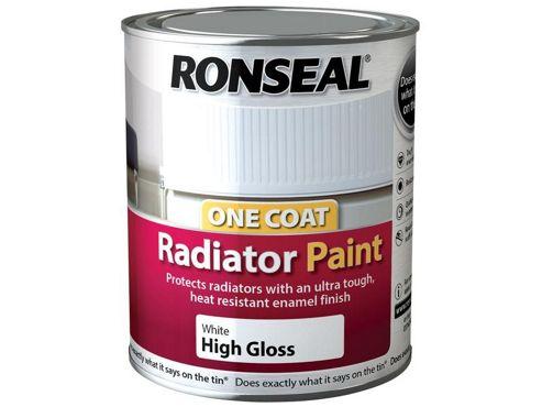 Ronseal OCRPWS250 One Coat Radiator Paint White Satin 250ml