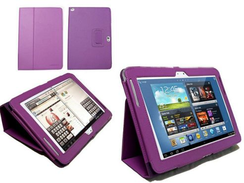 Navitech Black Faux Leather Case With Flip Stand For The Samsung Galaxy Tab 2 10.1