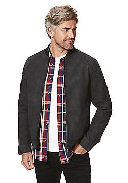 F&F Faux Suede Bomber Jacket - Grey