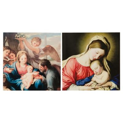 Tesco Madonna & Child Christmas Cards, 12 Pack