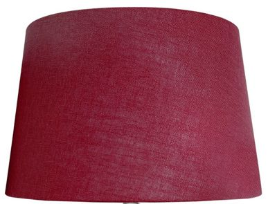 Red 19 Inch Linen Empire Shade (Dual Fitting)