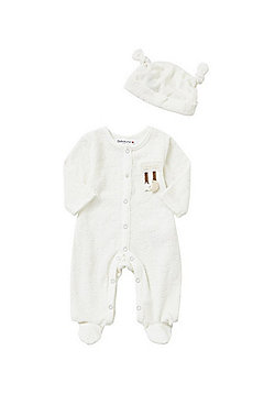 Babaluno Velour All in One and Hat Set - Cream