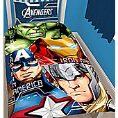 Marvel Avengers Single Bedding and Curtains 54s - Tech