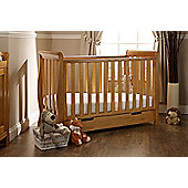 Obaby Stamford Mini Cotbed/Drawer/Sprung Mattress/Quilt and Bumper Set - Country Pine