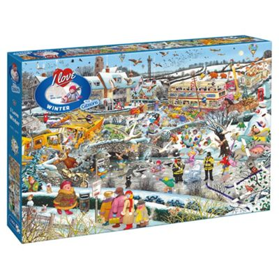 Gibsons I Love Winter 1000-Piece Jigsaw Puzzle