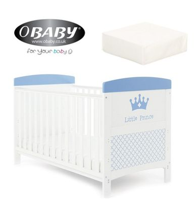 Obaby Grace Inspire Cotbed plus Mattress- Little Prince