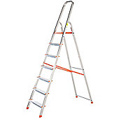 TB Davies Light Duty Aluminium 7 Tread Platform Step Ladder