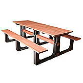BrackenStyle Large Rectangular Picnic Table - Red