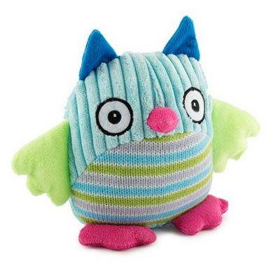 Ancol Plush Knitted Owl Dog Toy