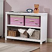Hickory 2 Shelf Bookcase - White