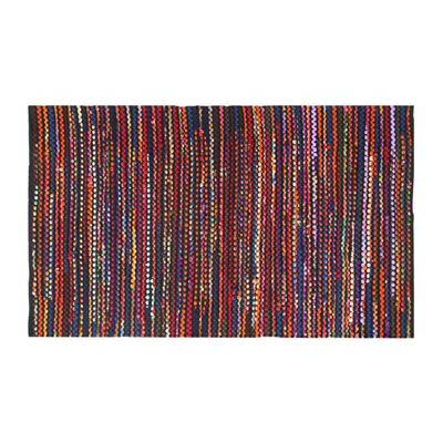 Homescapes Handwoven Multi Coloured Recycled Chindi Folk Rug Large, 120 x 170 cm