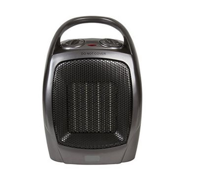 Powatron 1500W Oscillating Ceramic Heater 2 Heat Settings Adjustable Thermostat
