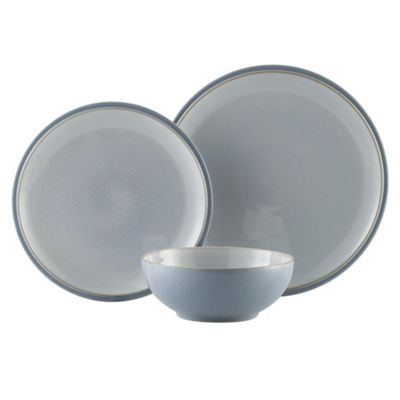 Denby Everyday Cool Blue 12 Piece Dinner Set  sc 1 st  Tesco : denby dinnerware set - pezcame.com