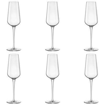 Bormioli Rocco Inalto Uno Champagne Flute - 285ml - Pack of 6 Drinking Glasses