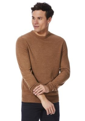 F&F Soft Touch Crew Neck Jumper Camel S