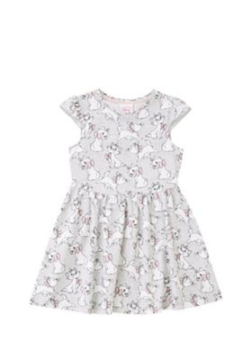 Disney Marie Print Skater Dress Grey Multi 12-18 months