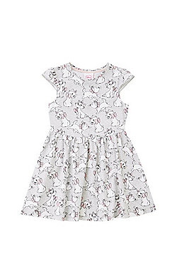 Disney Marie Print Skater Dress - Grey Multi