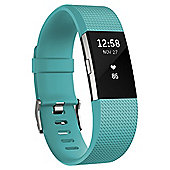 Fitbit Charge 2 Teal/Silver Large