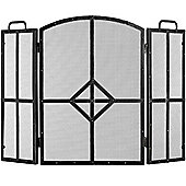 Gothic Fire Screen - Brushed Black