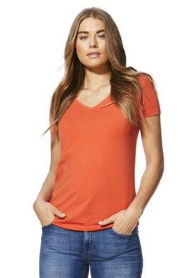 F&F Short Sleeve T-Shirt with As New Technology Orange 14