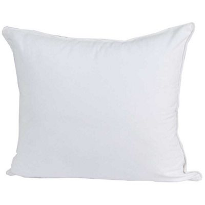 Homescapes Cotton Plain Off White Cushion Cover, 30 x 30 cm
