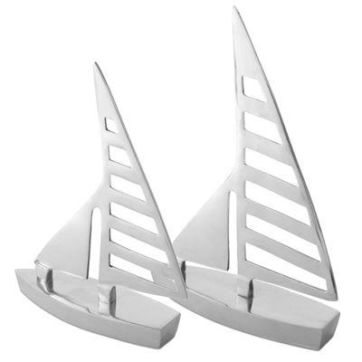 Bathroom Ornaments buy clipper' pair of silver aluminium sail boat home bathroom