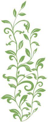 Leaf Scroll Wall Stickers