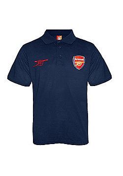 Arsenal FC Boys Polo Shirt - Navy