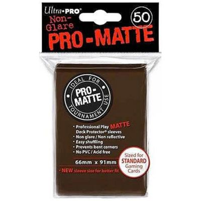 Ultra Pro Sleeves PRO-MATTE Card Game (Matte Brown) 50 count