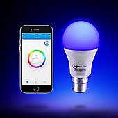AURAGLOW 9w Bluetooth Colour Changing LED Smart Light Bulb - B22