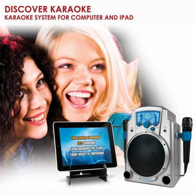 Discover Karaoke speaker system for computer and iPad - Silver