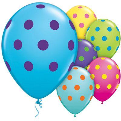 Big Polka Dots 11 inch Latex Balloons - 50 Pack
