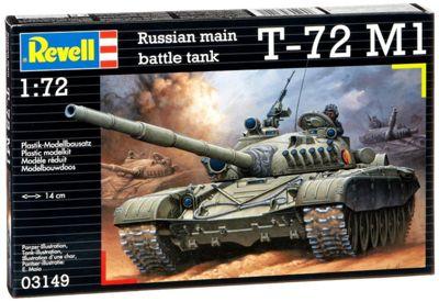 Soviet Battle Tank T-72 M1 1:72 Scale Model Kit - Hobbies