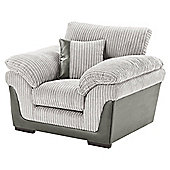Kendal Jumbo Cord Armchair, Light Grey