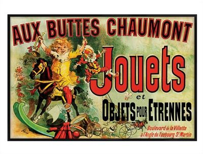 Vintage Advertising Gloss Black Framed Jouets Poster
