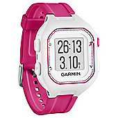 Garmin Forerunner 25 Fitness Tracker - White and Pink, Small