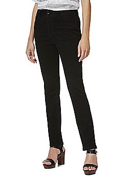 F&F Authentic High Rise Slim Leg Jeans - Black