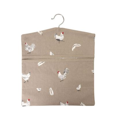Dexam Pecking Order Peg Bag in Stone 16150306