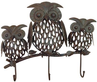 Three Wise Owls Hook Set