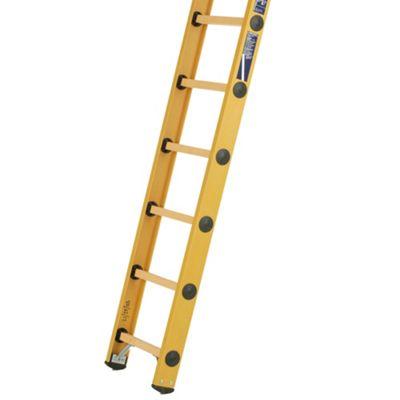 Heavy Duty 3.05m All GRP Fibreglass Single Extension Ladder