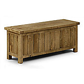 Aspen Storage Bench Reclaimed Rough Sawn Pine