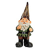 Large Traditional 39cm Garden Gnome Ornament Statue with Brown Hat