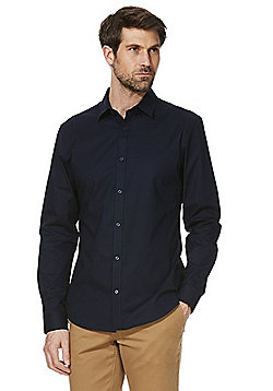 F&F Stretch Long Sleeve Shirt - Navy