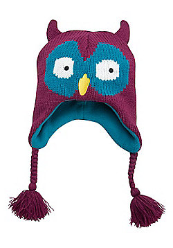 Mountain Warehouse Girls Winter Hats with Fleece Lining for Comfort & Ear Flaps - Aqua