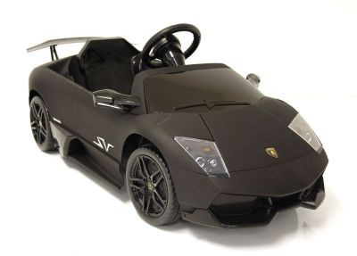 Kids Electric Car Lamborghini Murciélago 12 Volt Black Matte