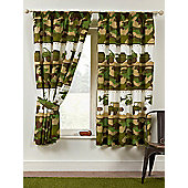 Army Camp Camouflage Lined Curtains 54""