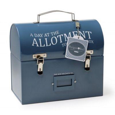 Burgon & Ball Gardening Tool & Tuck Tin Storage Box in Blue