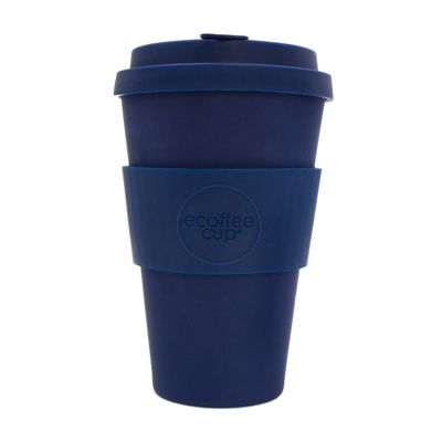 Ecoffee Cup Deep Blue with Blue Silicone 14oz