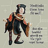 Holy Mackerel Right royal hump Greetings Card